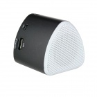 "Rechargeable 1.1"" LED Mini MP3 Player Music Speaker w/ FM / USB / TF Slot - Black"