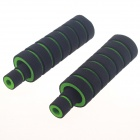 Comfortable Motorcycle Bicycle Thicken Non-Slip Sponge Handlebar Covers - Black + Green (2 PCS)