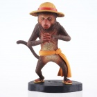 Resin Shaolin Monkey Figure Toy - Yellow + Brown