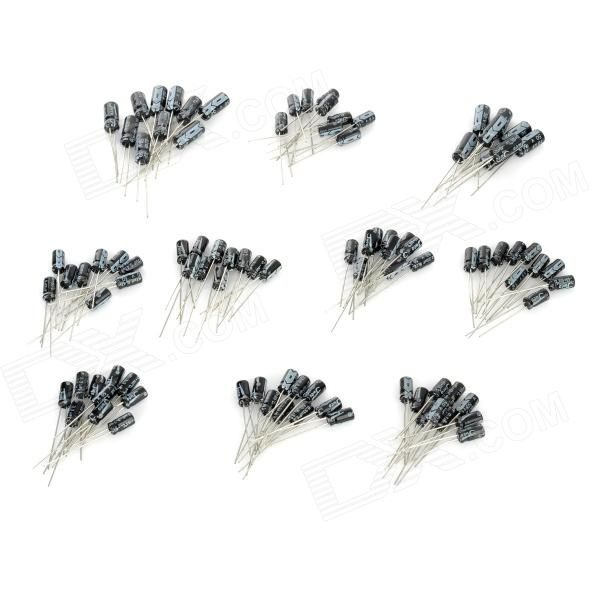 0.1~22UF Electrolytic Capacitor for DIY Project - Blue + Black (100 PCS) maitech 12 x 8mm 63v100uf electrolytic capacitors black 10 pcs
