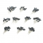 0.1~22UF Electrolytic Capacitor for DIY Project - Blue + Black (100 PCS)