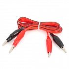 D12080001 Multimeter Alligator Clip Test Lead Cables - Red + Black (100cm)