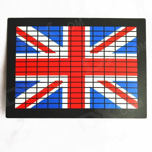 Flag of United Kingdom Pattern Voice Controlled Flash Plate - Black + Red + Blue + White