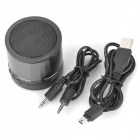 Mini USB Rechargeable Bluetooth v2.1 + EDR MP3 Player Music Speaker w/ TF - Black