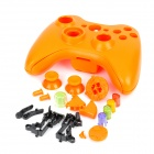 Replacement Wireless Controller Housing Case Set + Battery Back Case for XBOX 360 - Orange