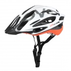 ACACIA Sports Cycling Helmet - White + Fluorescent Orange