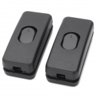 250V Power Control Button Switches for Lamp and Electronics - Black (2 PCS)