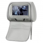 "NST-703F 7"" LCD Screen Car Headrest Monitor w/ Remote Controller / AV - Grey"