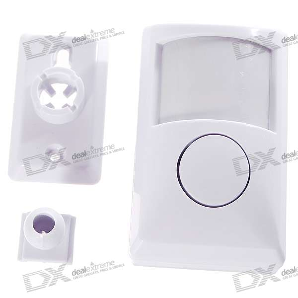 Wall-Mount PIR Motion Detector with 80dB Alarm Siren (7~10 Meter/110 Degrees)