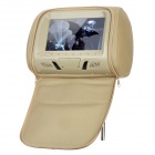 "NST-703M 7"" LCD Screen Car Headrest Monitor w/ Remote Controller / AV - Khaki"