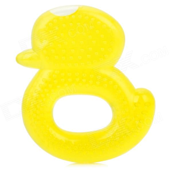 Duck Style Water Ring Soother for Baby - Yellow