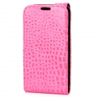 Crocodile Pattern Protective PU Leather Case for Samsung i9300 - Pink