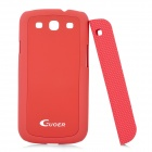 Creative Protective PC Case w/ Magnetic Back Cover Stand Holder for Samsung Galaxy S3 i9300 - Red
