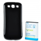 "Replacement 3.7V ""4800mAh"" Extended Battery w/ Back Cover Case for Samsung Galaxy S3 i9300 - Black"