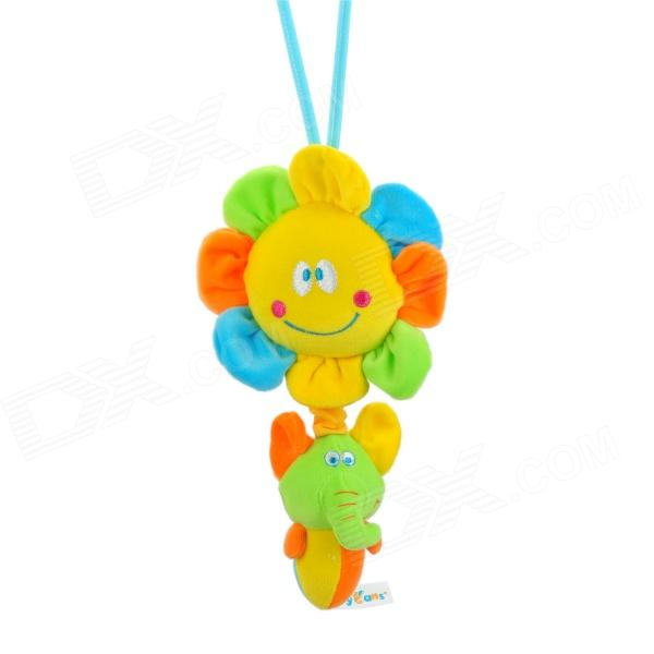 Sun + Elephant Style Music Drawstring Doll - Yellow + Green + Orange