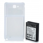 Ersatz 3.7V 5000mAh Extended Battery w / Back Cover Case für Samsung Galaxy Note i717 - White