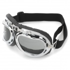Coole Folding Motorcycle Riding Augenschutz Brille Goggle - Black + Tawny + Silber