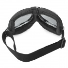 Cool Folding Motorcycle Riding Eye Protection Glasses Goggle - Black + Tawny + Silver
