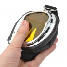 Cool Folding Motorcycle Riding Eye Protection Glasses Goggle - Black + Yellow + Silver