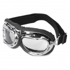 Cool Folding Motorcycle Riding Eye Protection Glasses Goggle - Black + Transparent + Silver