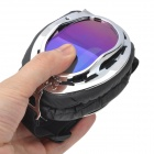 Fashion Folding Motorcycle Riding Eye Protection Glasses Goggle - Black + Silver