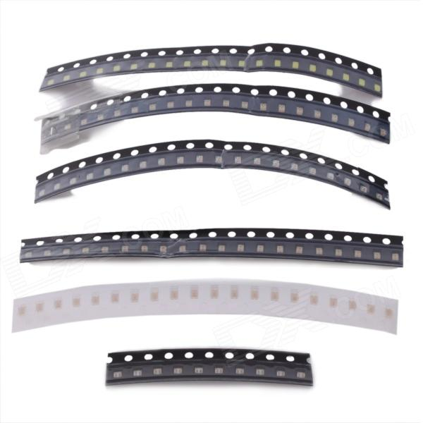 0805 SMD LED Emitters Strips Set - Black (5 x 20 + 1 x 10 PCS ) nobis nobis 152461