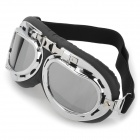 Fashion Folding Motorcycle Riding Augenschutz Brille Goggle - Black + Silver