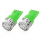 T10 1.5W 130lm Green Light LED Steering Lamp for Motorcycle - Green (12V / 2 PCS)
