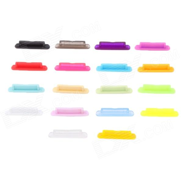 Silicone Dock Cover Dust Cap Plug for Iphone 4 - Random Color (18 PCS)