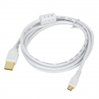 USB Male to Micro USB Male Sync Data / Charging Cable for Cellphone - White (150cm)