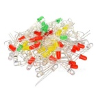 DIY 5mm 10-Color Light-Emitting Diodes LEDs (10 x 10 PCS)