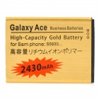 "Replacement 3.7V ""2430mAh"" Battery for Samsung Galaxy Ace / S5830 - Golden"