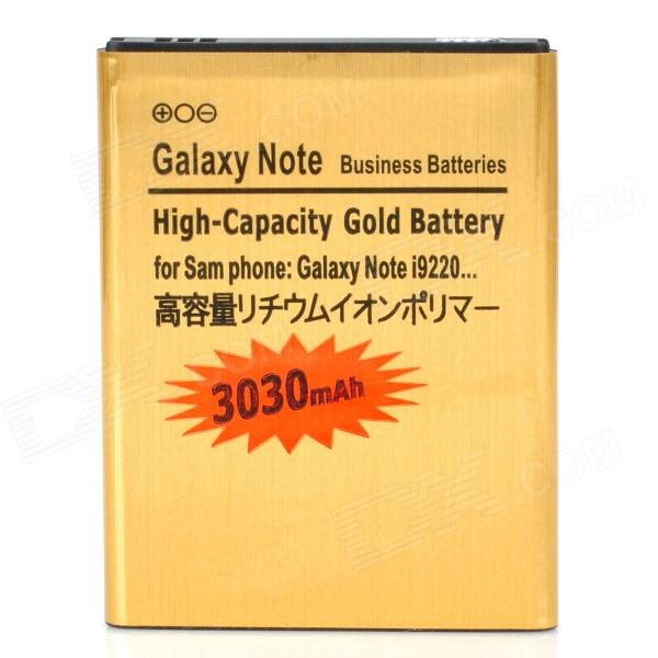 Replacement 3.7V 3030mAh Battery for Samsung Galaxy Note / i9220 / GT-N7000 - Golden