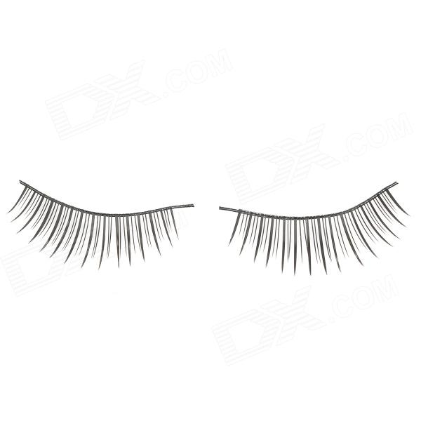 Man-Made Fiber Lengthening Artificial Eyelashes Set - Black (10 Pairs)
