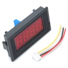 "2.2"" LCD RED LED Panel 0 ~ 10A Medidor Digital Amperímetro - Negro"