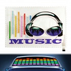 Headset Pattern Car Sound Control Sensor Music Rhythm LED Colorful Light Lamp