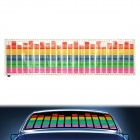 Car Sound Control Sensor Music Rhythm Electro-Luminescent Sheet Light Lamp (90 x 25cm)