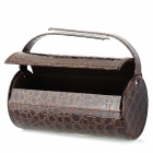 Elegant PU Leather Car Paper Holder Dispenser Box - Brown