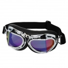 Cool Folding Motorcycle Riding Eye Protection Glasses Goggle - Black + Silver