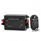 LED Single Color Dimmer w/ Remote Control - Black (DC 12~24V)