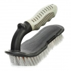Car Tire Cleaning Washing Brush with Non-Slip Grip Handle - Grey + Black