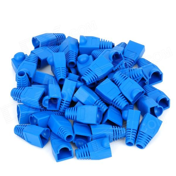 Ethernet RJ45 Connector Plug Covers - Blue (50PCS)