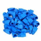 Ethernet RJ45 Connector Plug Covers - Blue (50 PCS)
