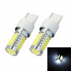 T20 6W 300lm 4-LED White Light Car Steering Light (2 PCS / 12V)