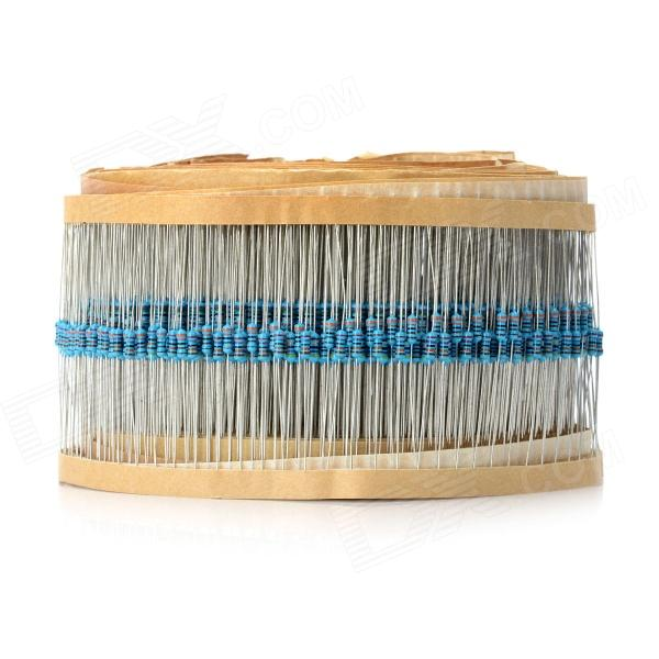 DIY 1/4W Resistance Metal Film Resistors (2500 PCS) jtron 0 5w carbon film resistors color ring resistance blue 100 pcs