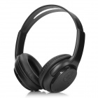 T-686 Rechargeable 500mAh Stereo Headphone w/ FM Radio / TF - Black (3.5mm / 150cm)