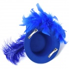 Feather Flower Mini Top Hat Hair Clips for Party / Holiday - Blue