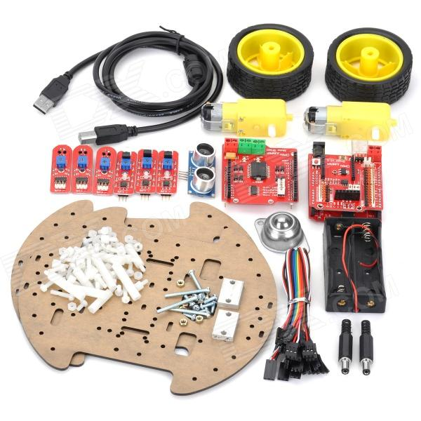 Multi-Function Obstacle Avoidance / Line Tracking / Ultrasonic Robot Car Kits for Arduino