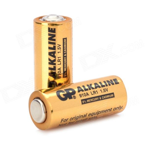 GP Disposable 800mAh Alkaline LR1 Size-N Batteries - Golden (1.5V / 2 PCS) gp disposable 800mah alkaline lr1 size n batteries golden 1 5v 2 pcs