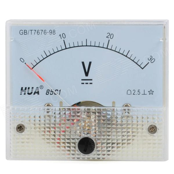85C1 Analogue 30V Voltage Panel Meter - Light Blue + White analogue dc 500v voltage panel meter white
